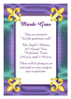 Enjoy lots of wording samples and ideas for your mardi gras party for those watching their budget find mardi gras party invitations that are a very affordable stopboris Gallery