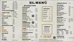Denver Illegal Pete's menu