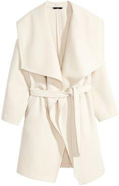 H&M Felted Coat - Light beige - Ladies on shopstyle.com
