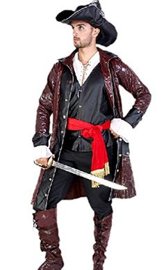 Lily Bell Men's Pirates of the Caribbean Costume Party Cosplay  - Click image twice for more info - See a larger selection womens men's pirate costume at http://costumeriver.com/product-category/men/ - mens, holiday costume , event costume , halloween costume, cosplay costume, classic costume, scary costume, pirate, classic costume, clothing