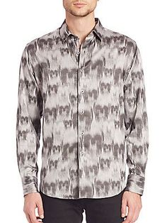 Robert Graham Ghostriders Woven Sportshirt - Grey - Size S