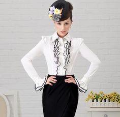 Morpheus Boutique  - White Designer Vintage Lady Ruffle Collar Sleeve Shirt/top (http://www.morpheusboutique.com/products/White-Designer-Vintage-Lady-Ruffle-Collar-Sleeve-Shirt{47}top.html)