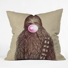 Star Wars fans rejoice! This Chewy inspired pillow will be an excellent addition to your couch. Find it at DENY Designs by artist Eric Fan called Big Chew Throw Pillow.