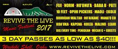 Revive the Live Music Festival 2017 - http://fullofevents.com/hawaii/event/revive-the-live-music-festival-2017/