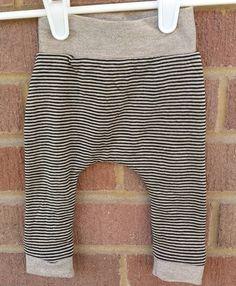 Trendy striped baby boy girl leggings hipster by LittleIvieRose