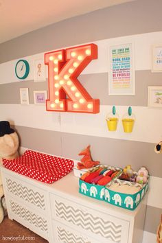 Colorful circus gender neutral nursery for baby Peanut – The reveal!   How Joyful