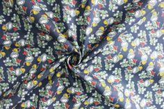 Kinderstoffe - Baumwolle kleiner Ritter blau - ein Designerstück von Stoff-abc bei DaWanda