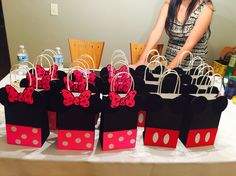 Mickey and Minnie Mouse Goodie Bags! - pouch bag online, large grey clutch bag, bags online for ladies *ad Diy Festa Mickey, Fiesta Mickey Mouse, Mickey Mouse Baby Shower, Mickey Y Minnie, Mickey Mouse Parties, Mickey Party, Minnie Mouse Pinata, Elmo Party, Dinosaur Party