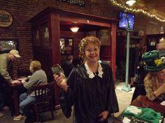 Irish Drinking Song Contest 2013.  Judge Alice needs a refill.