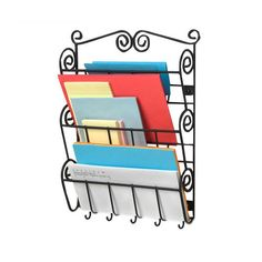 Found it at Wayfair - Scroll Wall Mount Letter Holder in Black