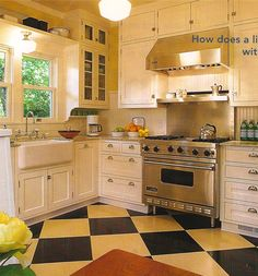 more pictures from my stash...      at first glance, this kitchen is very traditional.   a closer look reveals some very unusual details.....
