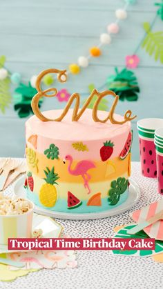 Metallic Cake, Yellow Candy, Candied Lemons, Apple Smoothies, Summer Birthday, Fun Birthday Cakes, Orange Birthday Parties, Painted Cakes, Cake Cover