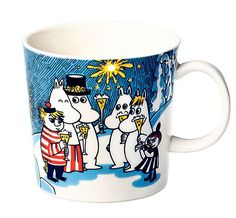 Moomin mug Millenium 2000 Moomin Mugs, Moomin Valley, Tove Jansson, Marimekko, Mug Designs, Mug Cup, Crafts To Do, Earthenware, Tea Set