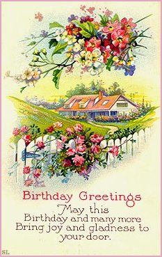 Victorian Birthday Cards Cheers Happy Vintage Wishes
