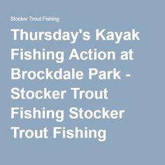 Thursday's Kayak Fishing Action at Brockdale Park - Stocker Trout Fishing Stocker Trout Fishing