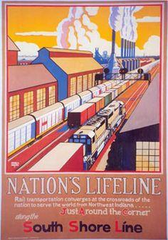 Nation's Lifeline, South Shore Line, 1998. Artist: Mitchell A. Markovitz