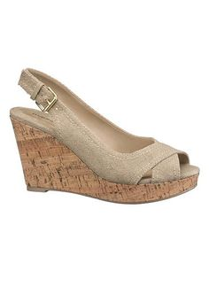 Top Picks From Girl With Curves | danielle sling back wedge in natural  (original price, $29) available at #maurices
