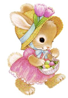 Barbara_Wyckoff uploaded this image to 'Holidays/Easter'. See the album on Photobucket. Easter Projects, Easter Crafts, Easter Bunny Pictures, Glitter Gif, Bunny Painting, Cute Animal Illustration, Colouring Pics, Vintage Cards, Cute Wallpapers