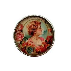 S-3031 Vintage Lady Snap 20mm for Ginger Snap-Noosa Snap-Chunk Snap Charm Jewelry by SimpleEleganceCole on Etsy