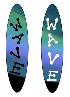 4th personal wave surfboard designs, using the paint smudge tool on photoshop