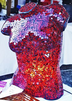 Mosaic Mannequin Torso Lamps – Brisbane (I had a friend that did this.  She did it in mirror and black, making it appear like a tuxedo.  It looked so good)