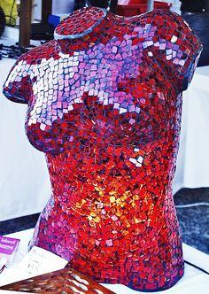 Mosaic Mannequin Torso Lamps –Brisbane