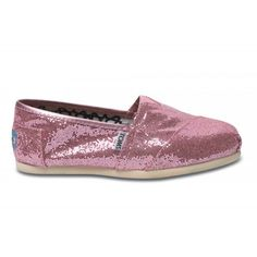 Pink Toms Glitters Women's Shoes