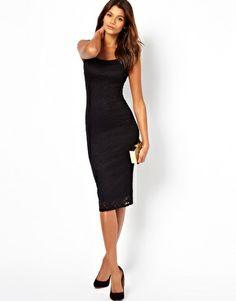 ASOS Lace Bardot Midi Dress