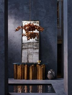 Elemental - Suspension - Bronze - Porta Romana Natural architecture combined with patterns and structures borrowed from Nature are at the heart of . ...