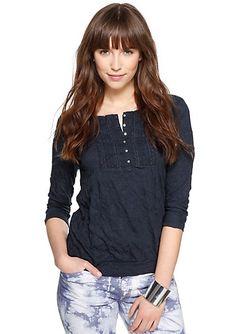 Shirt mit 3/4-Arm im s.Oliver Online Shop kaufen perfekt, nur leider blau