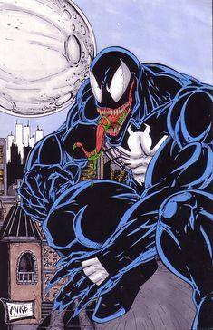 Venom by mikeyglover on DeviantArt Venom Comics, Marvel Venom, Marvel Comics Art, Marvel Comic Books, Comic Books Art, Comic Art, Venom Comic Book, Univers Marvel, Venom Art