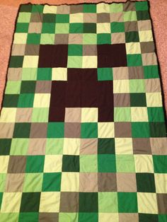Creeper,Minecraft quilt
