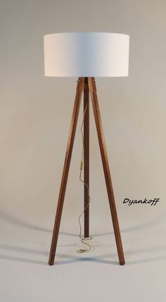 Brooklyn floor lamp from houzz floor lamps pinterest floor lamp handmade tripod floor lamp with wooden stand and by dyankoffshop aloadofball Image collections
