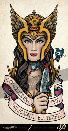 Valkyrie Cancer Tattoo by Sam-Phillips-NZ.deviantart.com on @DeviantArt