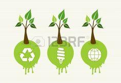 Stile piatto salvare l'idea dell'albero Terra con icone set. Questa illustrazione � stratificato per una facile manipolazione e la colorazione personalizzata