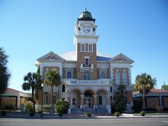 My home town! the courthouse Live Oak, FL. North FLorida close to the Suwannee River.