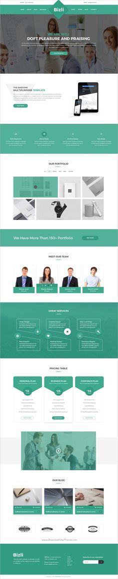 Bizli is a modern and creative design #PSD template for multipurpose #business websites download now➩ https://themeforest.net/item/bizli-creative-multipurpose-psd-template/19242834?ref=Datasata
