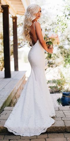 18 Modest Wedding Dresses Of Your Dream ❤ modest wedding dresses mermaid with straps backless lace katie may ❤ Full gallery: https://weddingdressesguide.com/modest-wedding-dresses/ #modestweddingdresses