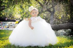 Ivory TuTu Dress Flower Girl Infant Baby by LyricsTuTuBoutique, $60.00