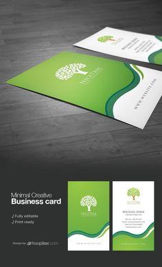 Creative Green Business Card