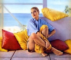 Grace Kelly in Jamaica, photographed by Howell Conant, 1955