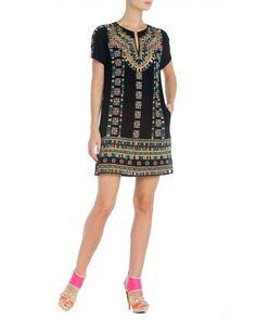 Bcbg Maxazria Runway Embroidered Aliss Shirt Dress VFJ6W075-001