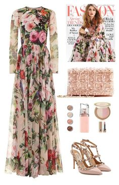 """Romantic day"" by nicolesynth ❤ liked on Polyvore featuring Dolce&Gabbana, Gabor, Valentino, Oscar de la Renta, Terre Mère, HUGO, Too Faced Cosmetics and Marc Jacobs"