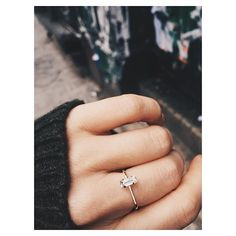 Balancing Baguette Ring - perfection. @bingbangnyc