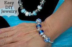 Make a Bracelet or Necklace in under 5 minutes with this Easy DIY Jewelry :: Instructions on HoosierHomemade.com