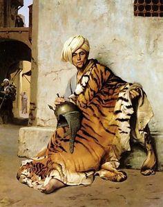 Art -  Orientalism - Jean-Léon Gérôme - A marchant in Egypt