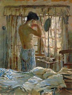 mrsramseysshawl:  Edward Seago (1910-1974), The East Window