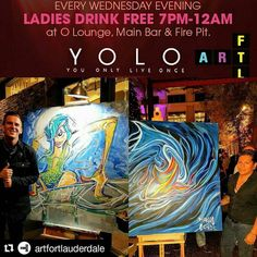 "Great first night of the @artfortlauderdale ""YOLO Live"" Pop-up Series @yolorestaurant featuring @toddthepainter & @_visualove_  The pieces included in this pop-up series of events will be on display in an incredible multi-sensory experience featuring a Live Art reproduction of a 3 dimensional version of the Art Fort Lauderdale logo (see image from our ad in Venice Magazine attached).   Standing over 4ft tall a 3 dimensional cube/box (4x4x4x4) will feature 20 live art panels that will be…"