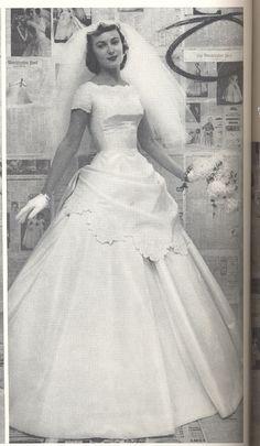 From winter 1957, Alfred Angelo vintage designer fashion bride ad