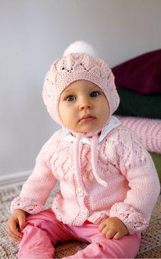Novita Oy - Neulemalli: Vauvan pitsineulemyssy ja -nuttu